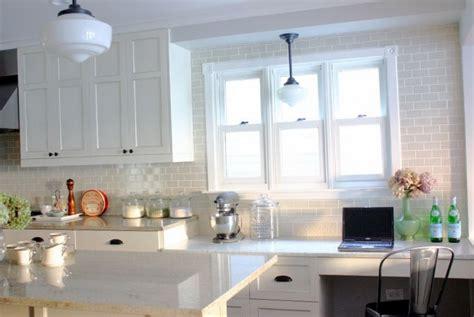 subway tile backsplash ideas with white cabinets home
