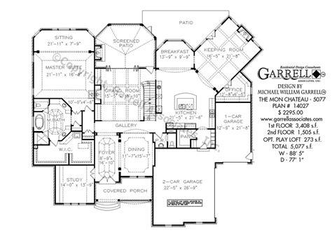 chateau house plans mon chateau house plan house plans by garrell associates
