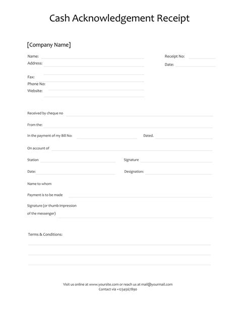 free receipt templates for excel word and pdf