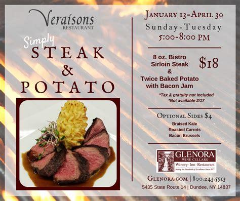 simply steak potato  veraisons restaurant mark twain