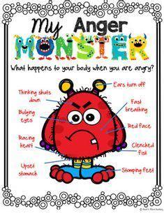 anger monster  anger management activity anger