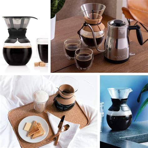 The top portion is ceramic, while the base is acrylic, and it pours into a glass beaker. Bodum Coffee Maker Pour Over - 1 Litre | Scandi Designs