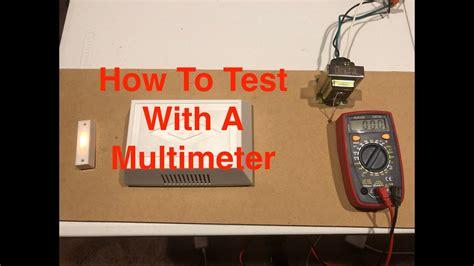 Test Doorbell Transformer With Multimeter Youtube