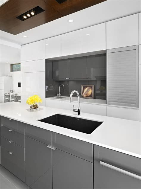ikea gloss white cabinets kitchen contemporary with deep