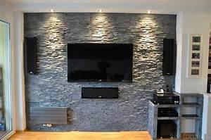 Steinwand Wohnzimmer Tv : steinwand wohnzimmer ideen raum und m beldesign inspiration ~ Bigdaddyawards.com Haus und Dekorationen