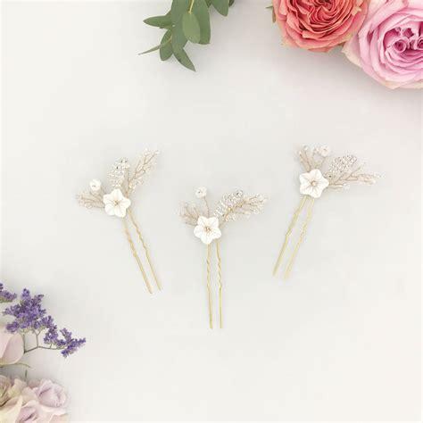 Floral Wedding Hair Pins By Britten notonthehighstreet com