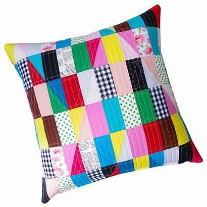 Pillow Patchwork Modern Quilts Triangles Quilt Pepper