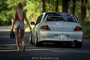 Ww mitsubishi Lancer Evolution 7 girl Evo Mitsubishi