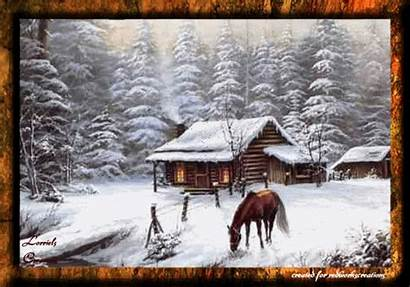 Winter Christmas Animated Merry Landscape Solstice Keefers