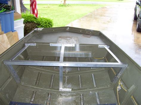 jon boat deck plans 17 best images about tin boats on bow fishing