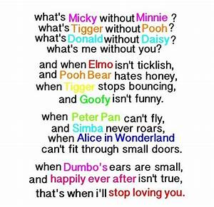 Disney love quote