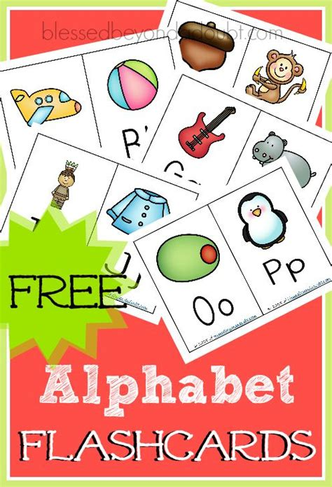 Abc Flashcards! They're Free!  What's Hot On Blessed Beyond A Doubt  Pinterest Homeschool