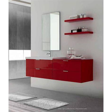 arredo bagno rosso arredo bagno as paganini termoidraulica riscaldamento e