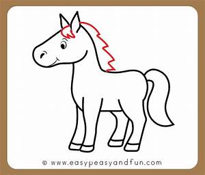 How To Draw A Horse Step By Step Tutorial For Kids