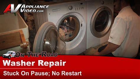 frigidaire atffs washer repair stuck  pause