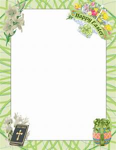Easter Bunny Border | Religious Easter Page Border Clip ...