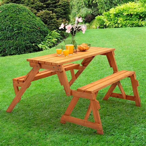 Garden Tables by Modbury Two In One Convertible Garden Bench And Picnic