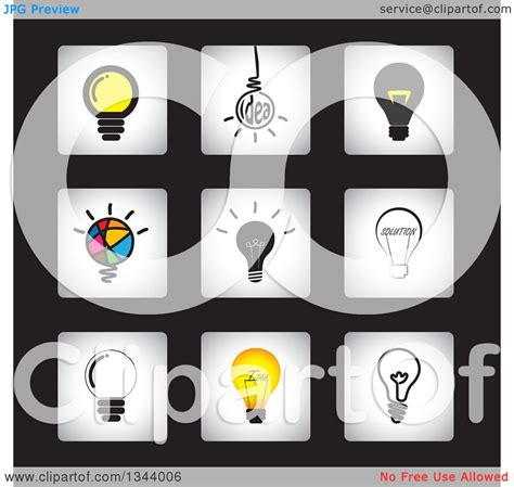 free black light app clipart of square light bulb app icon design elements on