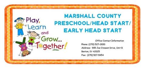 marshall county preschool head start early head start registration