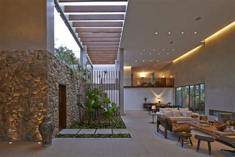 Blur The Boundaries With Inside Outside Living Style by Brazil House With Luxe Garden And Outdoor Living Layout