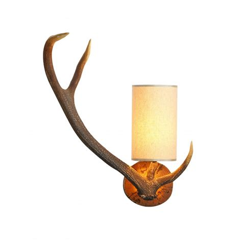 Vintage Wrought Iron Patio Furniture Sets by Wall Light Replica Stag Antler Left Facing For Lighting