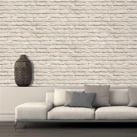 Papier Peint Brique Pour Un Salon De Style Industriel