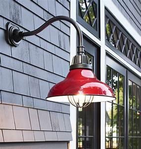 Outdoor lighting over garage : Carson gooseneck wall mount rejuvenation