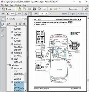 Ssangyong Kyron 2005 2006 2007 2008 Repair Manual