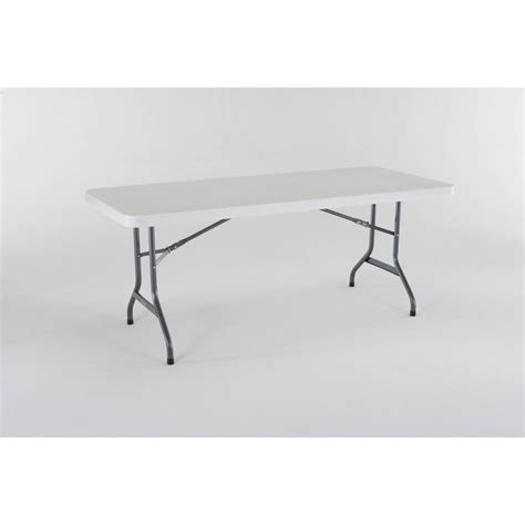 48 x 30 folding table shop lifetime products 72 in x 30 in rectangle steel white