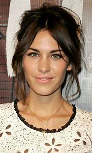 Festival Hairstyles: Your Celebrity Inspiration Updo, Alexa chung and Middle part bangs