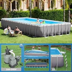 Pool Wassermenge Berechnen : intex 975 x 488 x 132cm swimming pool rechteck stahlwand frame schwimmbad 26372 ebay ~ Themetempest.com Abrechnung