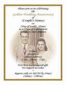 printable 50th wedding anniversary invitations with pic With 50th wedding anniversary invitations to print