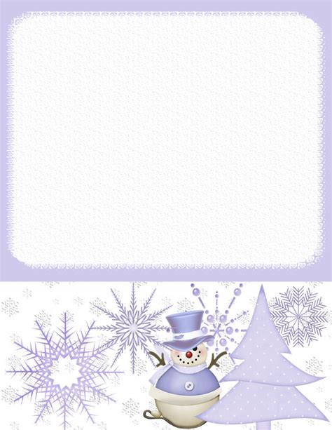 winter stationery theme downloads pg