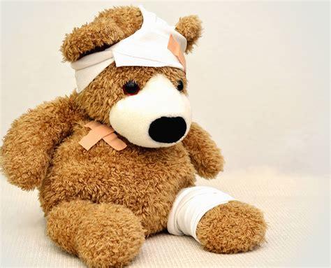 image libre  en peluche bandage malade