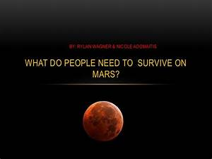 What Do People Need to Survive On Mars