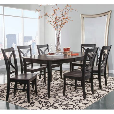 cosmopolitan coalblack dining room  piece set