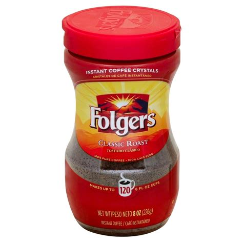 Folgers classic decaf instant coffee crystals, 8 ounce (pack of 12) ean 25500800189 2844.64 руб. UPC 025500000343 - Folgers Instant Coffee Crystals - Classic Roast - 1 Jar (8 oz) | upcitemdb.com