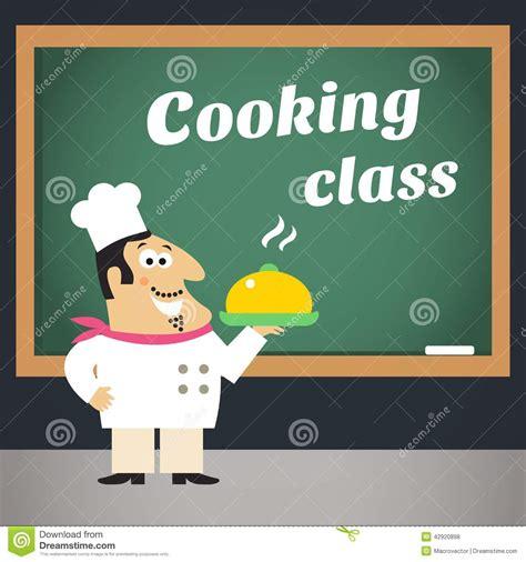 publicité cuisine affiche de la publicité de cours de cuisine illustration
