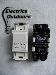 Mem Grid Switch 20 Amp Double Pole 250v Central Heating