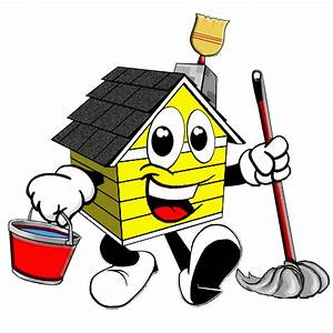 House Cleaning: Professional Cartoon House Cleaning Logos ...