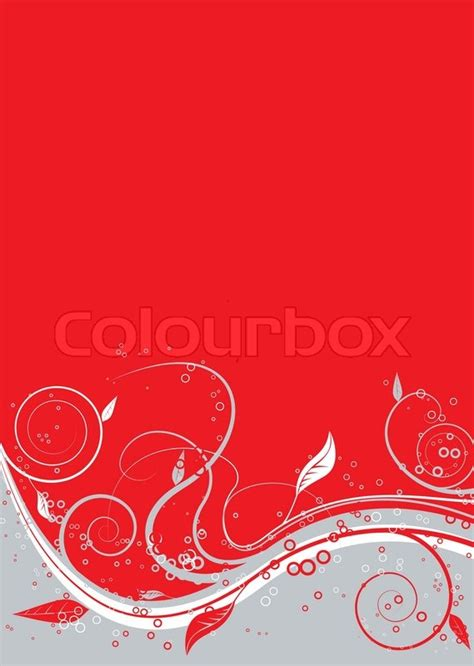 floral abstract background  red stock vector