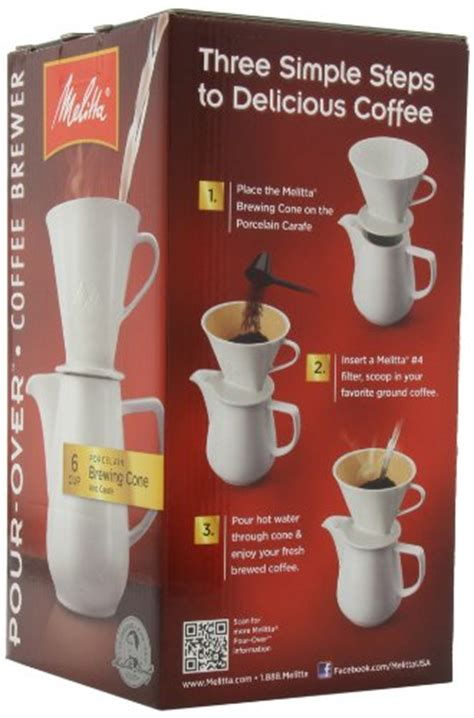 Melitta specialise in coffee machines, filters and ground coffee. Melitta Coffee Maker, Porcelain 6 Cup Pour- Over Brewer | Coffee Store