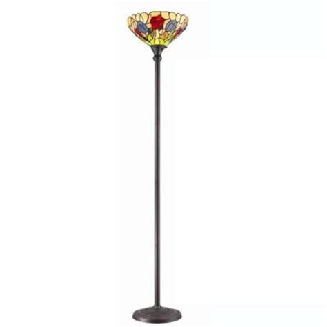 torchiere floor l home depot amora lighting 70 5 in tiffany style tulips torchiere