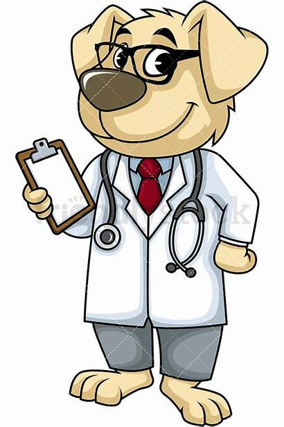 Doctor Dog Cartoon Clipart Vector Background Character