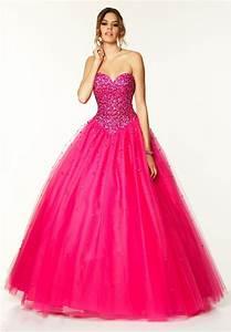 Abendkleider Long 2014 Crystal Hot Pink Prom Dress 2014 ...
