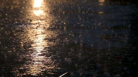 Asphalt Under Heavy Rain During The Night Stock Video