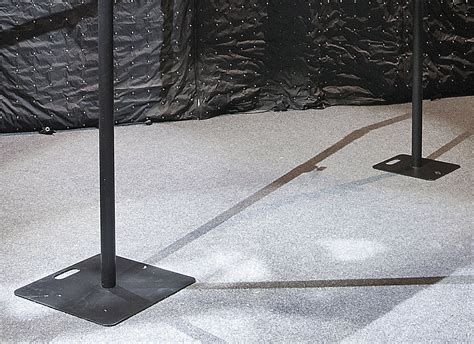 wentex pipe and drape wentex pipes drapes bodenplatte 600x600mm schwarz