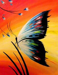 best 25 butterfly painting ideas on pinterest butterfly With what kind of paint to use on kitchen cabinets for sunset beach canvas wall art