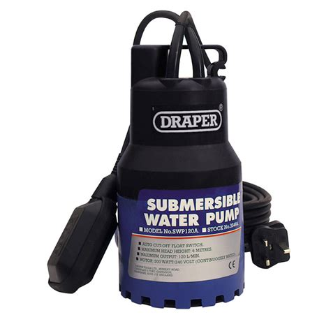 Draper 35464 Swp120a Submersible Water Pump 6m Lift