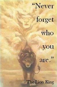 """Never forget who you are."" -Lion King 